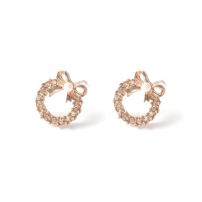 Brincos Para As Mulheres Real Earing 2019 Japanese And Korean Fashion New Elegant Bow Earrings Zircon Ladies Banquet Wholesale  4