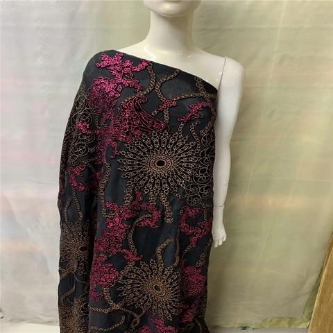 Tecido de Seda Fora da Flanela de Veludo Tecido de Seda para Vestuário de Vestido Tecido de Veludo de Seda Pano de Seda Africano Queimado-para Perspectiva para Vestuário de Vestido Lxe042502