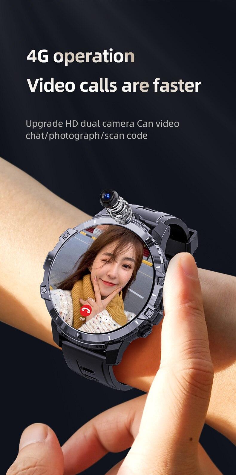 gps smartwatch mt6762 850mah 8mp câmeras duplas