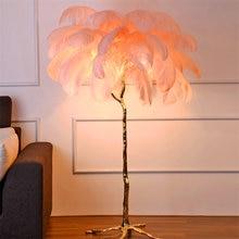 Современные Напольные светодиодные светильники из страусиных