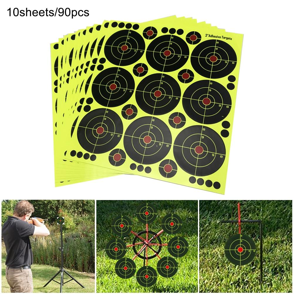 Shooting Supplies Adhesive Shooting Targets Reactive Splatter Paper Target Sticker For High Pressure Target Hunting Training