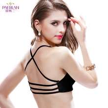 Luxurious new product sexy bra front buckle bra no steel ring bra small chest thick cup smooth gather backless underwear funklouz no steel ring sports sleep underwear lace beauty back front buckle zipper bra full cup gather bra for women
