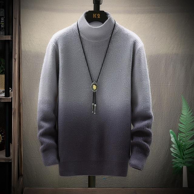 De calidad superior suéter de Navidad para hombres ropa de invierno 2020 grueso cálido suéteres Casual clásico cuello jersey de Cachemira de los hombres 4