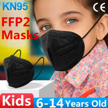 Kids FFP2 Mask KN95 Mascarillas Face Masks Mouth KN95 Mask Child FFP2MASK Mouth Caps 5 layer FFP2 Protective Masque Filter Dust