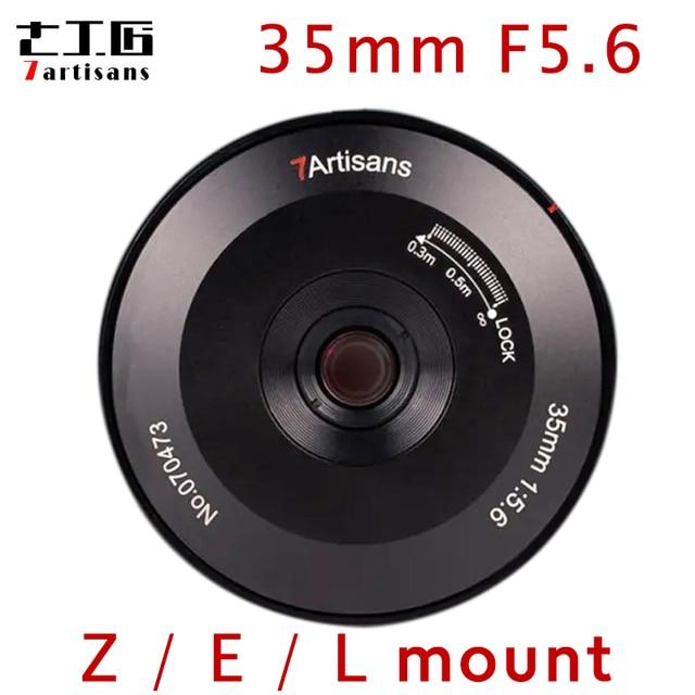 7 Ambachtslieden 35Mm F5.6 Lens Full Frame 2ED Licht Gewicht Ultra Dunne Mf Pan Focus Camera Lens Voor leica L Sony E Nikon Z Mount Camera