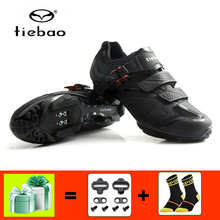 цены TIEBAO Cycling Shoes black Men Bicycle Mountain Bike Shoes Non-slip Self-locking breathable mtb Shoes Sapatos ciclismo sneakers