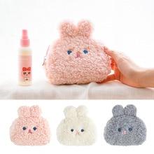 Bentoy Plush Coin Purse Rabbit Money Case Girls Cute Soft Wallet Purse Lipstick Bag Women MakeUp Bag Drop shipping