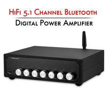 Nobsound amplificador de potencia, estéreo, HiFi, 5,1 canales, Bluetooth 5,0, amplificador de Audio Digital, Clase D para el hogar