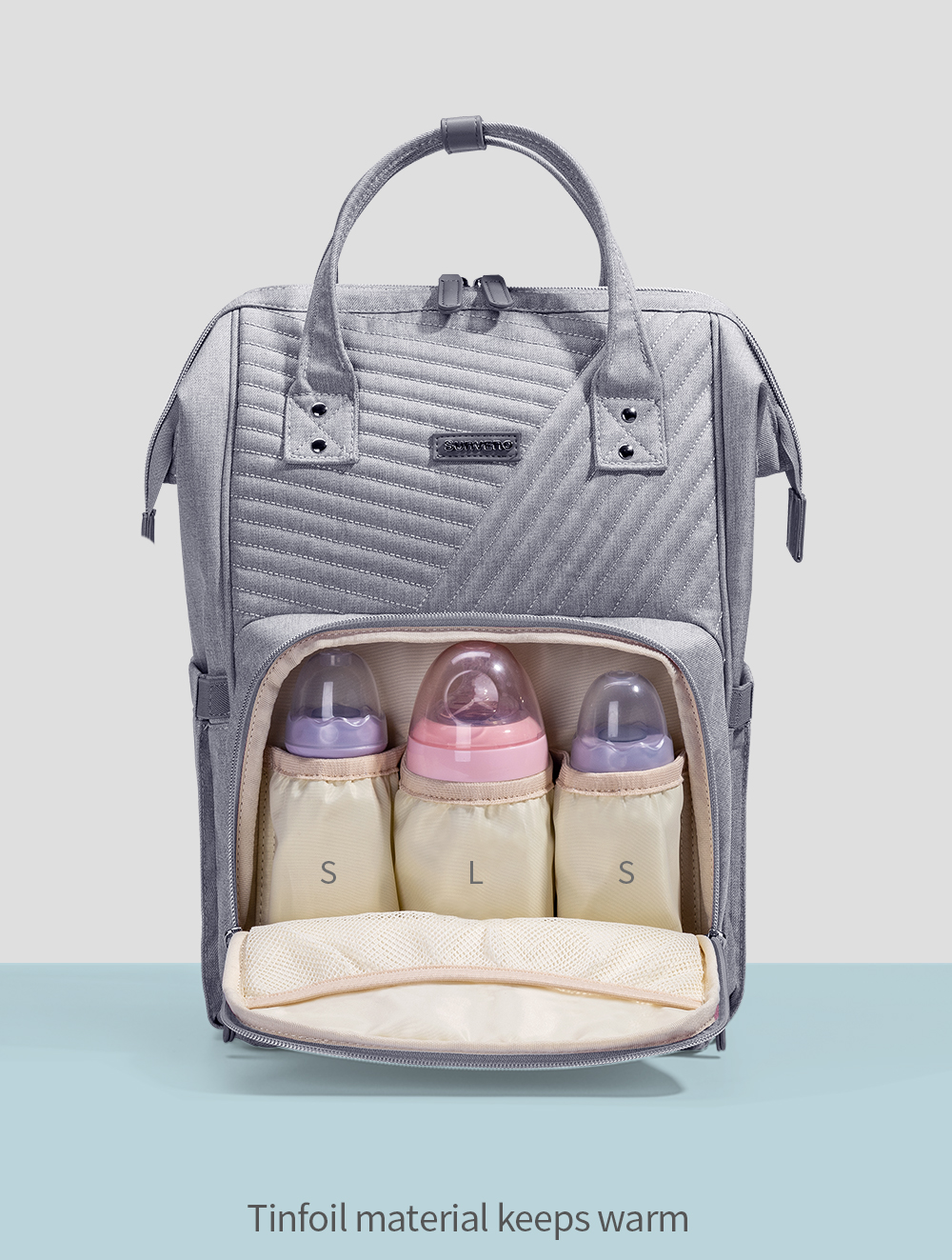 H805fb6f0d6aa40fb9d83fe7216991593s Sunveno Fashion Diaper Bag Backpack Quilted Large Mum Maternity Nursing Bag Travel Backpack Stroller Baby Bag Nappy Baby Care