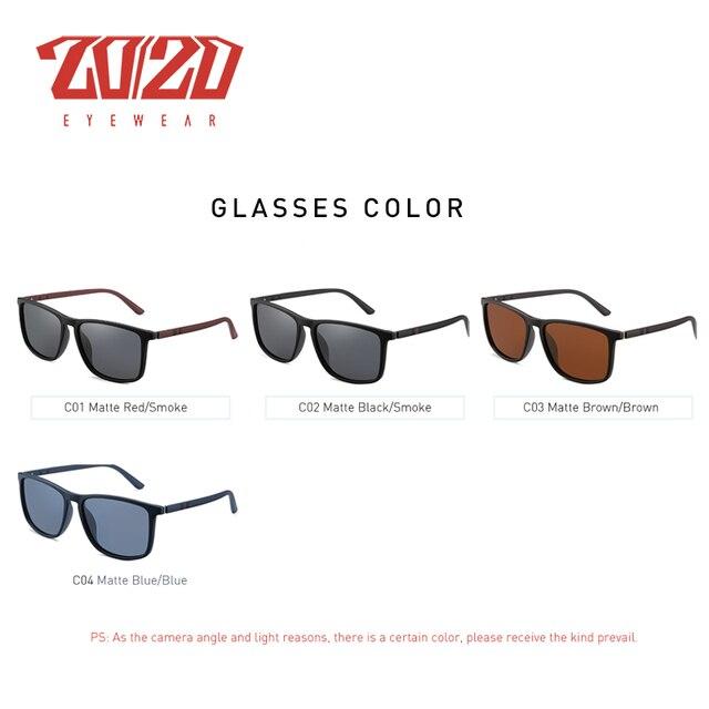 20/20 Design Brand New Polarized Sunglasses Men Fashion Trend Accessory Male Eyewear Sun Glasses Oculos Gafas PL400 2