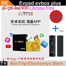 [Oryginalne] iptv EVPAD 4 EVPAD4 EVBOX Plus 4 + 32G aktualizacja Android tv box bezpłatne IPTV z korei japonia SG Malay usa CA indonezja Philippin(China)