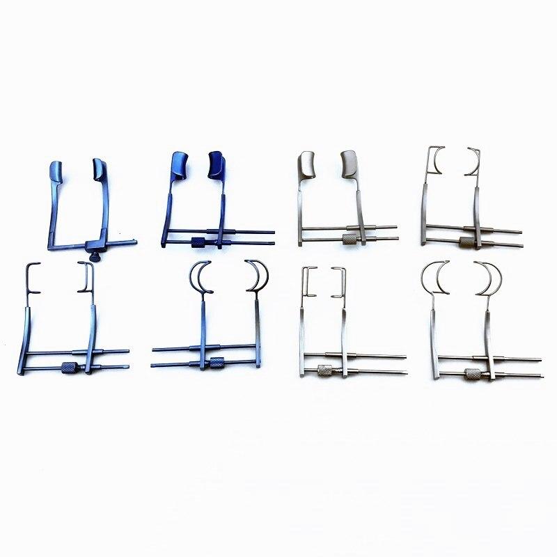 melhor titanio olho especulos especulo solida lamina fio da lamina oftalmica instrumentos cirurgicos abridor ferramentas palpebra