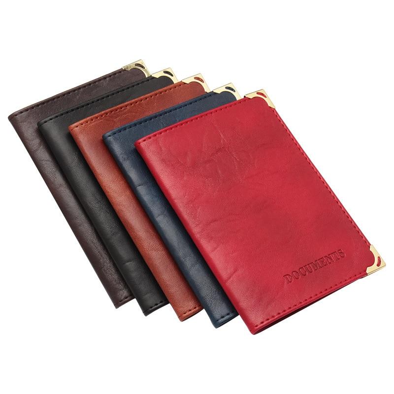 Retro Oil Wax Skin Grain Golden Copper Driver's License PU Leather Passoport Cover Holder Wallet Travel Accessories ZSPC63