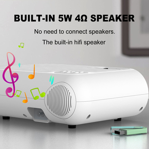 Image 4 - Salange P62 Mini Proiettore per Film Allaperto, supporto 1080P Full HD Projetor Home Theater 2800 Lumen Video Proiettore Beamer