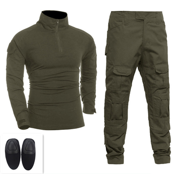 Men Tactical Uniforms Military Clothing Army Green Combat Suit Sets Outdoor Hunting Special T-shirts Paintball Pants With Pads