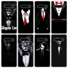 Man Suit Shirt Tie Phone Case For Samsung Galaxy A51 A71 A50 A70 A90 A10S A20S A20E A21 A30 A40 A41 A01 M30S A6 A7 A8 A9 A10Plus(China)