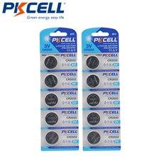 10 Chiếc PKCELL CR2032 3V Đồng Hồ Pin Lithium BR2032 DL2032 ECR2032 CR 2032 Nút Pin Pin Lithium