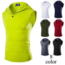 ZOGAA męskie bluzy T Shirt prosty Trend jednolity kolor Slim Fit męskie kamizelki wygodne bez rękawów kurtki okazjonalne kamizelki koszule topy tanie tanio Suknem Na co dzień Stałe 1216-B10 COTTON V-neck