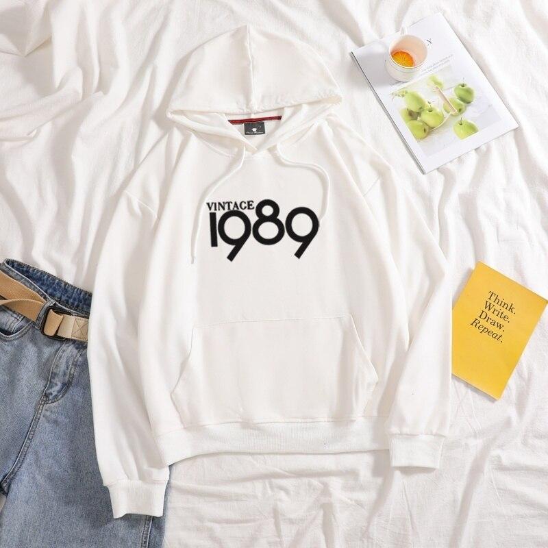 Купить новинка 1989 винтажные толстовки с принтом женская осенняя толстовка