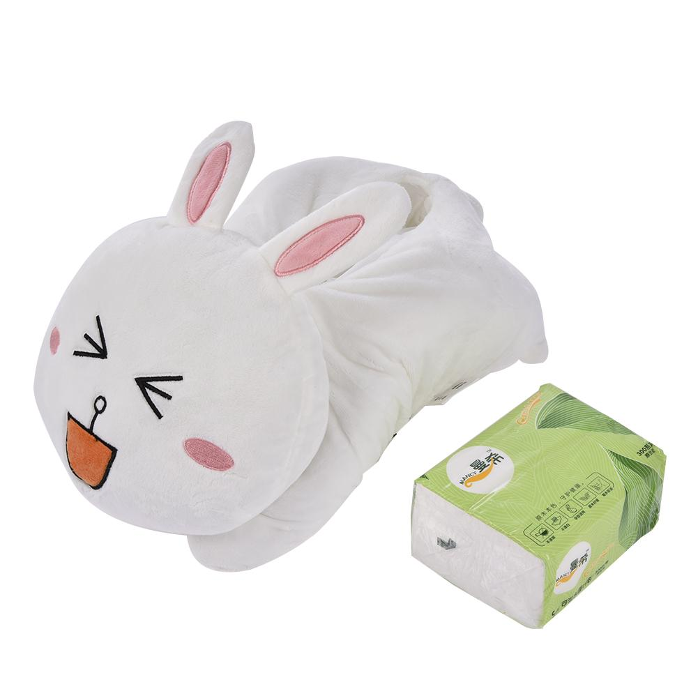 Car Napkin Tissue Box Case Holder On Armrest Headrest Cute Plush Cartoon Cute Paper Towel Box Car Interior Accessories|Tissue Boxes| |  - title=