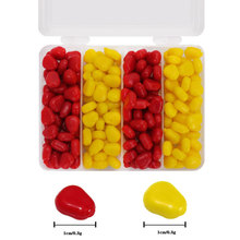 200pcs/box 110g Artificial Corn Kernels Silicone Yellow/Red Soft Lure PVC Leurre Souple Bream Trout soft bait For Lake