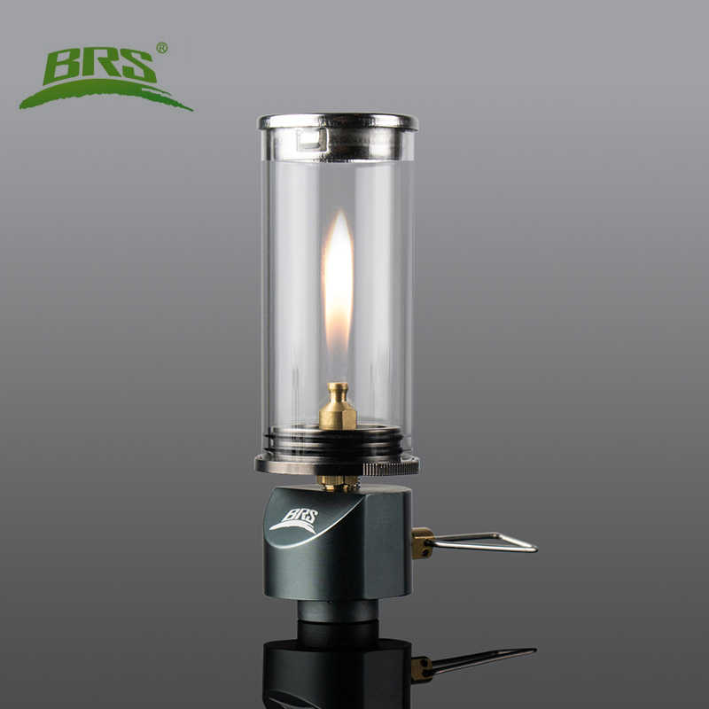 BRS Camping Gas Lantern Outdoor Portable Picnic Butane Light Lamp w//Adapter/&Head