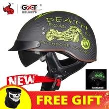 GXT Motorcycle Helmet Casco Moto Men Women Vintage Motorbike Half Helmet Summer Racing Retro Motocross Riding Helmet Breathable