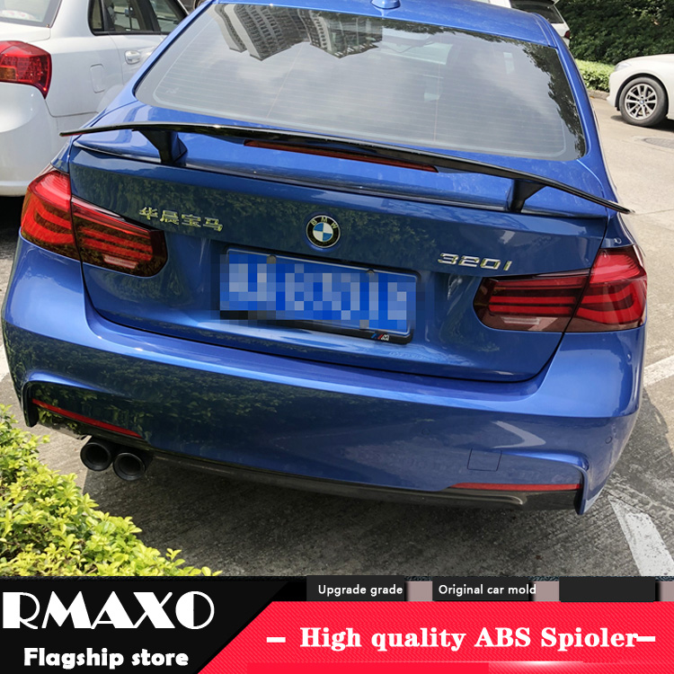 For F30 F35 Spoiler 2016-2019 BMW E90 TF High Quality Spoiler ABS Material Car Rear Wing Primer Color Rear Spoiler image