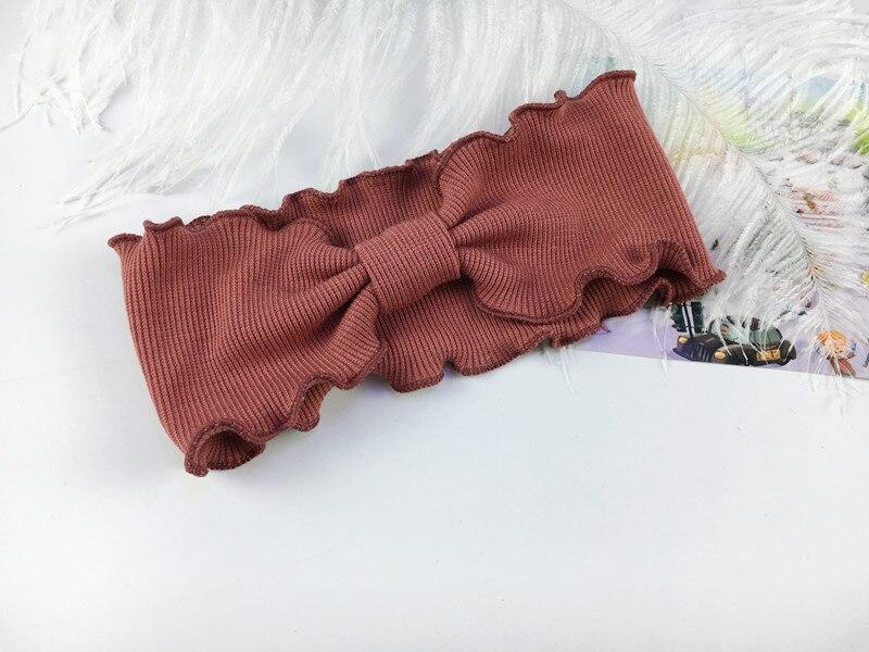 Стильная Повязка на голову с бантом для девочек; повязка на голову с бантом и перекрестным галстуком; однотонные головные уборы; красивые детские головные уборы с галстуком-бабочкой для девочек