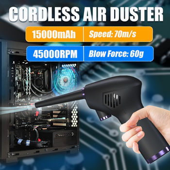 Rechargeable 45000 RPM Cordless Electric High Pressure Air Duster Computer Cleaner Blower Keyboard Laptop Deep Cleaning Tool 1