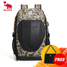 OIWAS Gaming Backpack for Men 15.6 Inch Laptop Large Motorcycle Waterproof Outdoor Tactical Daypack Travel Bag with USB Charge