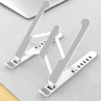 Portable Laptop Stand Foldable Base Notebook Support Holder For Macbook Adjustable Computer Cooling Stand Riser wiwu folding portable laptop stand 11 17 3 inch notebook universal stand for macbook aluminum adjustable cooling support laptops