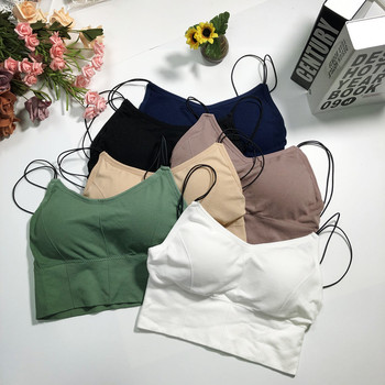 Women Tank Crop Top Sexy Seamless Underwear Female Tube Wire Free Lingerie Padded Camisole - discount item  29% OFF Women's Intimates
