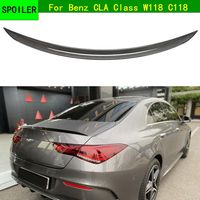 For Benz CLa Class c118 Spoiler Carbon Fiber Rear Trunk Spoiler Wing for Mercedes Benz w118 cla200 220d 2019 2020