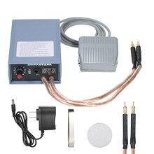Zgrzewarka punktowa 5000W High Power ręczna maszyna do zgrzewania punktowego przenośna 0-800A regulowana prądowa spawarka do 18650 baterii wtyczka amerykańska