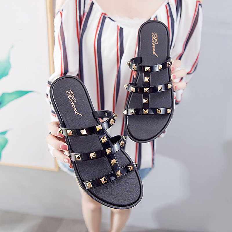 Fashion Women Slides Summer Rivet Slippers Women Shoes Flip Flops Sandals Upstream Lady Shoes Beach Slides Zapatillas Mujer 2