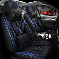 Full Coverage PU Leather car seat cover flax fiber auto seats covers for ford kuga mk2 mondeo mk3 mk4 ranger