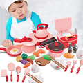 Kinder Küche Spielzeug Simulation Küche Utensilien BBQ Kochgeschirr Topf Pan Kinder Pretend Play Küche Set Spielzeug Für Mädchen Puppe Lebensmittel
