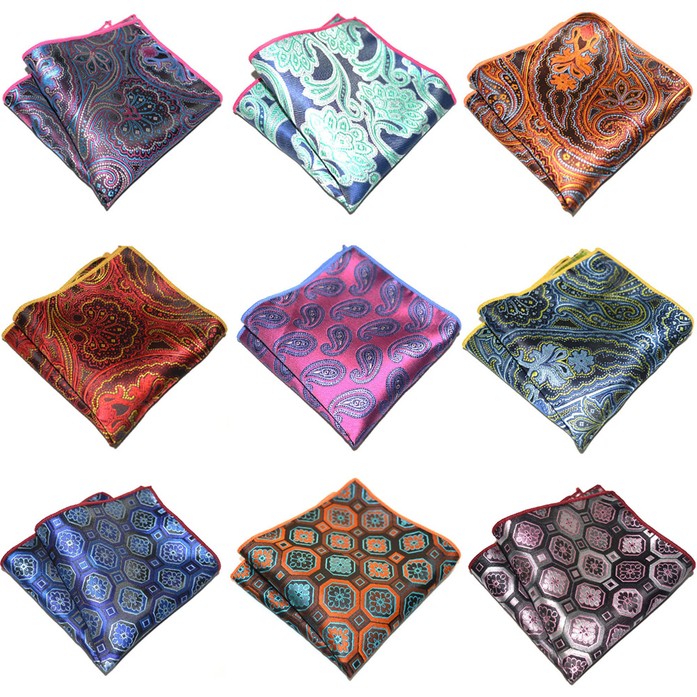 Men's Accessories Geometric Paisley Pattern Pocket Square Business Handkerchief BWTYX0311