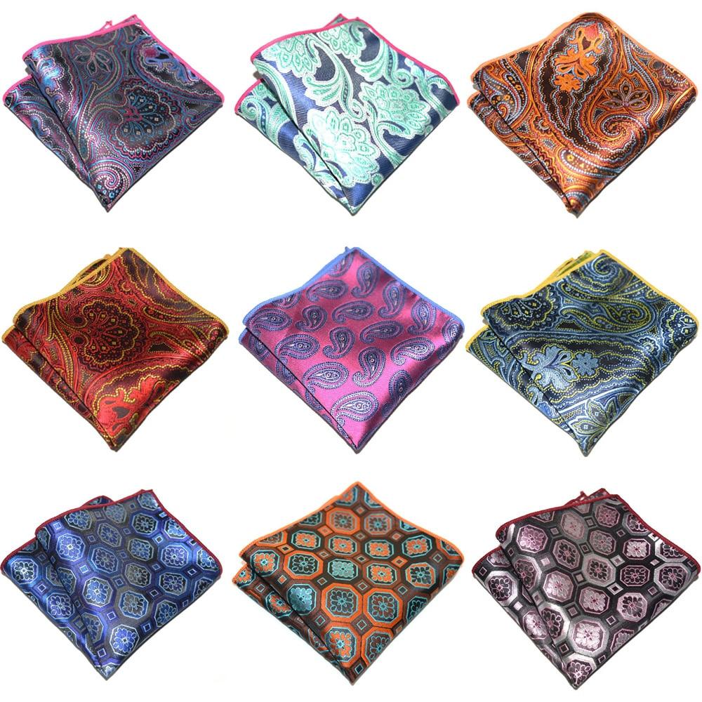 Men's Accessories Geometric Paisley Pattern Pocket Square Business Handkerchief BWTYX0311
