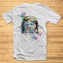 Mens T-Shirt Print Cosmic Color Cat Dtg Fancy Tshirt Tees High Quality Graphic Summer Style Casual Wear Tee Shirt(China)