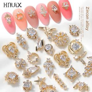 2pieces 3D metal Zircon Nail art jewelry japanese nail decorations top quality zircon crystal manicure zircon diamond charms