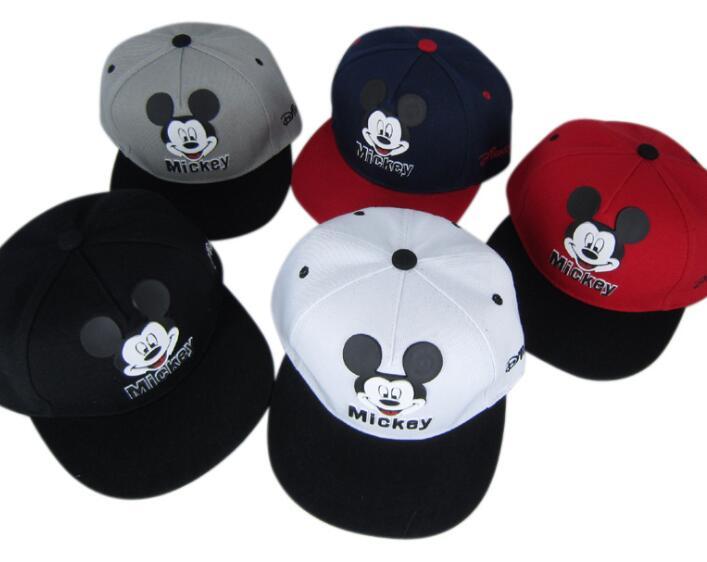 1pcs Cartoon New 5color Mickey Fashion Sun Hat Mario Casual Cosplay Baseball Cap Children Party Gifts