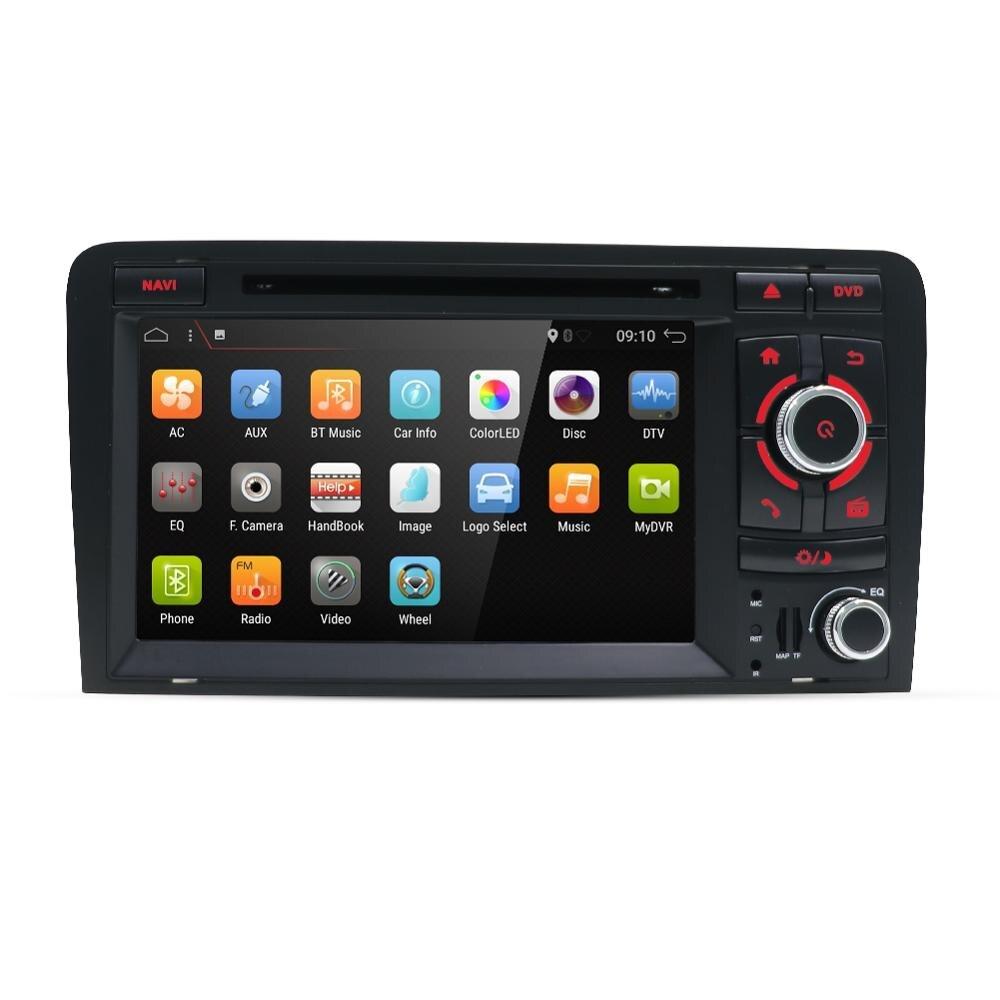 Eunavi Android 9,0 4G 64G 2 DIN AUTO DVD GPS Für Audi A3 8P 2003-2012 s3 2006-2012 RS3 Sportback 2011 multimedia player 8 Kerne
