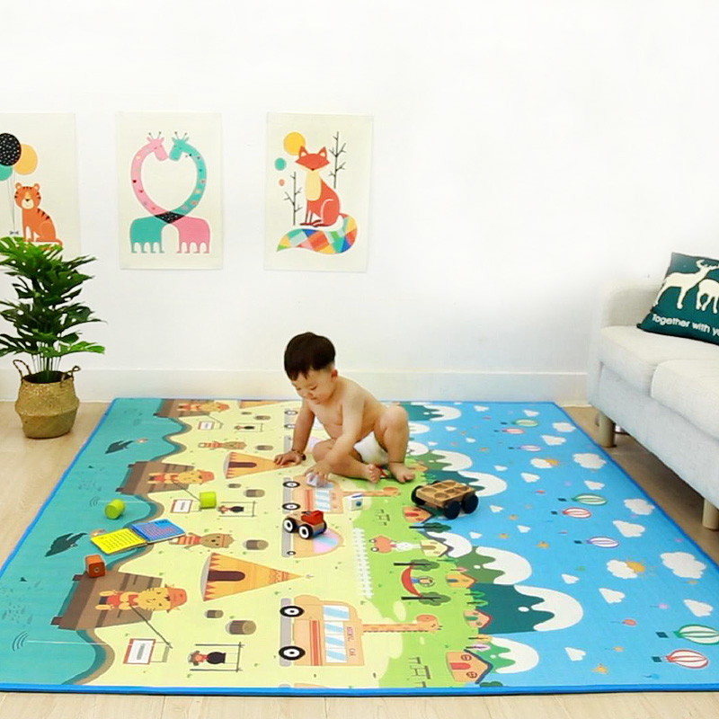 Kids Puzzle Rug Baby Play Mat Foam Soft Floor Gym Activity Carpet Non-Slip Reversible Waterproof Toys For Children Game Gift