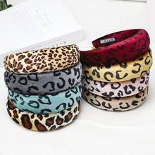 Hair Accessories Fashion Leopard Sponge Women Hairband Boutique Soft Fabric Ladies Hoop Europe Premium Headwear