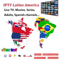 Latin Iptv M3U Subscriptio Colombia Spanje Ecuador Paraguay Latino Vod Movie Met Volwassen Voor Iptv Smarters Pro Android Smart Tv(China)