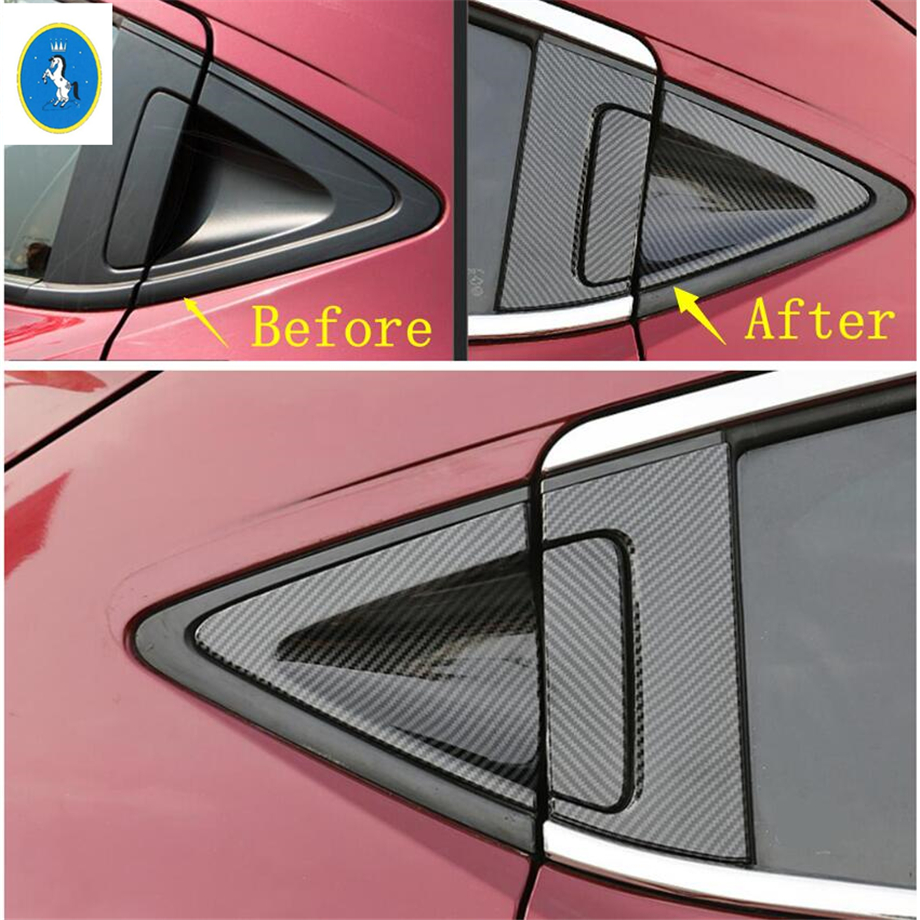 Yimaautotrims Auto <font><b>Accessory</b></font> Rear Window Door Handle Bowl Cover Trim Fit For <font><b>Honda</b></font> <font><b>HRV</b></font> HR-V Vezel 2014 - 2019 ABS Carbon Fiber image