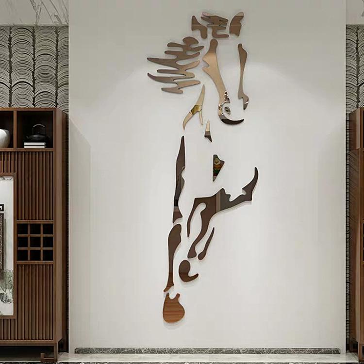 New-arrival-Horses-Living-room-Acrylic-3d-Wall-Sticker-Restaurant-Background-DIY-art-wall-decor-Creative (1)