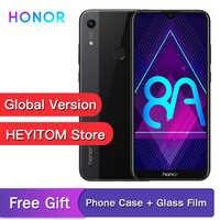 "Original global version optional Honor 8A 6.09 ""MT6765 Octa Core Android 9 facial care ID 3020mAh 3 card slot 4g smartphone"